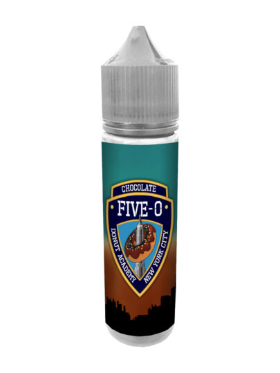 e-liquid bottle: Five-O Chocolate Donut 60ml Shortfill