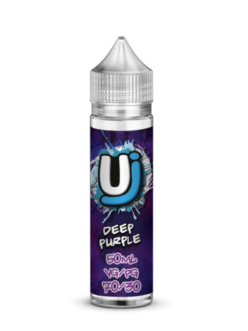 e-liquid bottle: Ultimate Juice Deep Purple 60ml shortfill