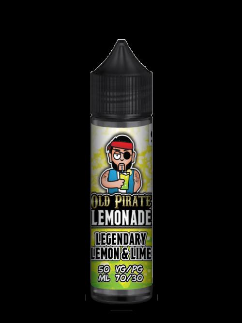 e-liquid bottle: Old Pirate Lemonade LEGENDARY LEMON and LIME 60ml Short-fill