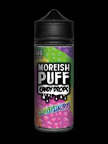 e-liquid bottle: Moreish Puff Candy Drops Rainbow 120ml Shortfill