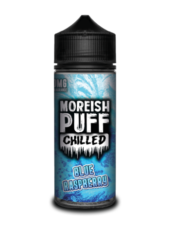 e-liquid bottle: Moreish Puff Chilled Blue Raspberry 120ml Shortfill