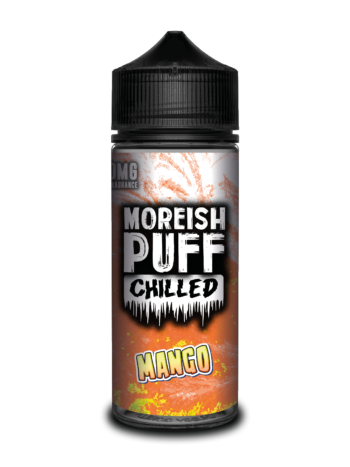 e-liquid bottle: Moreish Puff Chilled Mango 120ml Shortfill