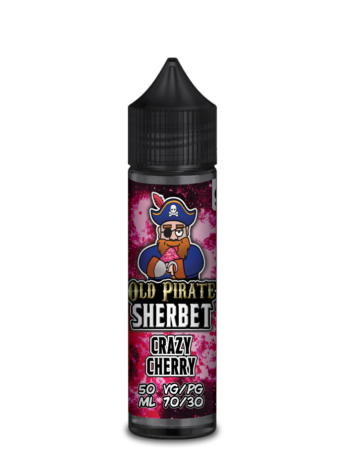 e-liquid bottle: Old Pirate Crazy Cherry Sherbet 60ml Shortfill