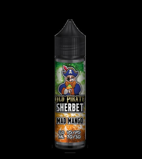 e-liquid bottle: Old Pirate Mad Mango Sherbet 60ml Shortfill