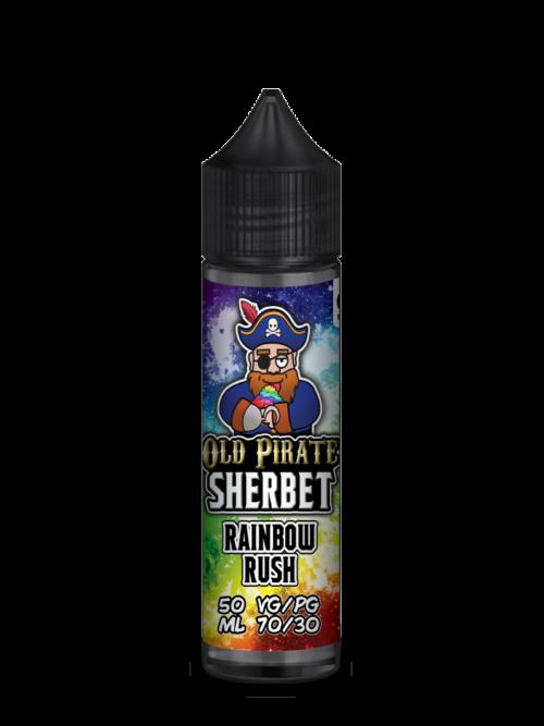 e-liquid bottle: Old Pirate Rainbow Rush Sherbet 60ml Shortfill