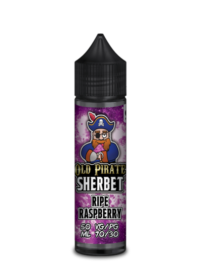 e-liquid bottle: Old Pirate Ripe Raspberry Sherbet 60ml Shortfill