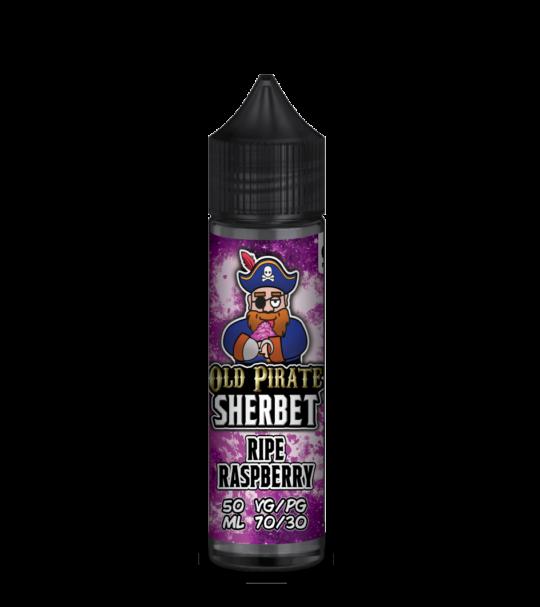 e-liquid bottle: Old Pirate Ripe Raspberry Sherbet 60ml Shortfill