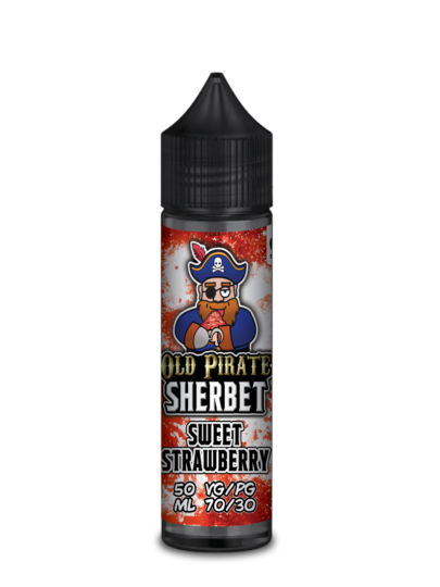 e-liquid bottle: Old Pirate Sweet Strawberry Sherbet 60ml Shortfill