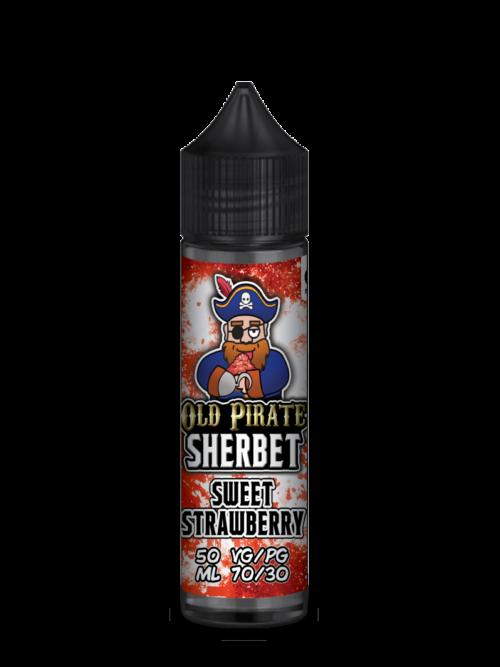 e-liquid bottle: Old Pirate Sweet Strawberry Sherbet 60ml Shortfill
