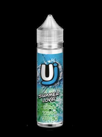 e-liquid bottle: Ultimate Juice Summer Lovin' 60ml shortfill
