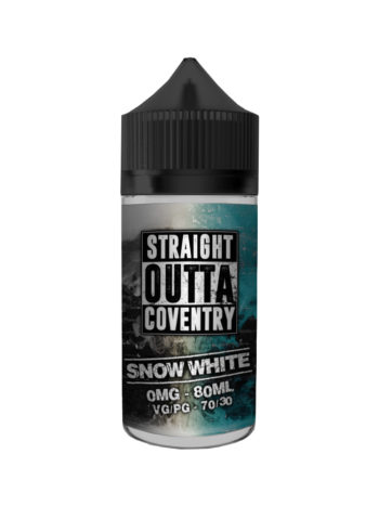 e-liquid bottle: Straight Outta Coventry Snow White 100ml Shortfill