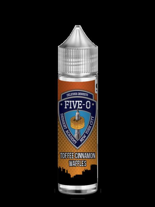 e-liquid bottle: Five-O Toffee Cinnamon Waffle 60ml Shortfill